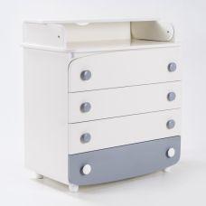 Комод-пеленатор Верес 600 білий/сірий