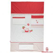 040 Постель 3 предмета Bebetto Cilek white/red