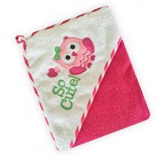 Полотенце з капішоном Z-CY-27/Pink Сова