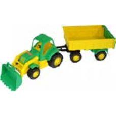 44556 Трактор Крепыш с прицепом №1 и ковшом