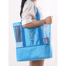 Летняя сумка для пляжа Play&Joy (термосумка). Голубая