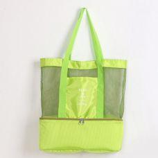 Летняя сумка для пляжа Play&Joy (термосумка). Салатовая