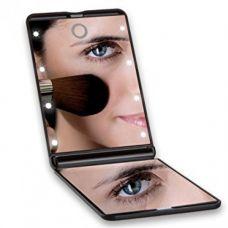"Складное зеркало для макияжа с подсветкой ""LED Travel Mirror"""